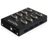 DELOCK USB B -> 8db Serial RS-232 F/M adapter fekete