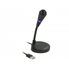 DELOCK USB Microphone with base and Touch-Mute Button mikrofon