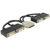 DELOCK VHDCI-68 pin -> 4db DVI-D adapter 0.22m fekete
