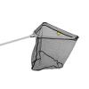Delphin merítőhalló fém fejcsatlakozással gumírozott hálloval-60x60/200cm