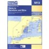 Dénia to Barcelona and Ibiza Chart M13 - Imray