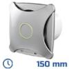 - Design ventilátor alu matt XT (150 mm) időkapcsolós