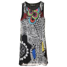 Desigual fekete-fehér mintás, ujjatlan női ruha – 38 női ruha