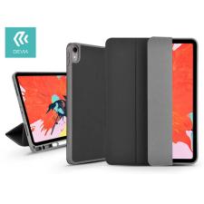 Devia Apple iPad Pro 12.9 (2018) védőtok (Smart Case) Apple Pencil tartóval - Devia Leather Case V2 - black tablet tok