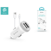 Devia Apple iPhone 5/5S/5C/SE/iPad 4/iPad Mini szivargyújtós töltő adapter + lightning adatkábel - 5V/3,1A - Devia Smart Series Dual Car Charger Suit - white
