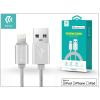 Devia Apple iPhone 5/5S/5C/SE/iPad 4/iPad Mini USB töltő- és adatkábel - 1,2 m-es vezetékkel (Apple MFI engedélyes) - Devia Fashion Cable Lightning - silver