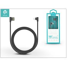 Devia Apple iPhone 5/5S/5C/SE/iPad 4/iPad Mini USB töltő- és adatkábel 1 m-es vezetékkel - Devia King 90 Double Angled for Lightning USB 2.4 - black tok és táska