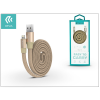 Devia Apple iPhone 5/5S/5C/SE/iPad 4/iPad Mini USB töltő- és adatkábel 80 cm-es vezetékkel - Devia Ring Y1 Lightning USB 2.4 - gold