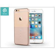 Devia Apple iPhone 6/6S hátlap Swarovski kristály díszitéssel - Devia Crystal Unique - champagne gold tok és táska
