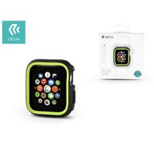 Devia Apple Watch 4 védőtok - Devia Dazzle Series 40 mm - fekete/neon zöld tok és táska