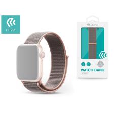 Devia Apple Watch lyukacsos sport szíj - Devia Deluxe Series Sport3 Band - 38/40 mm - pink sand tok és táska