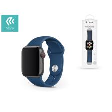 Devia Apple Watch lyukacsos sport szíj - Devia Deluxe Series Sport Band - 42/44 mm - blue óraszíj