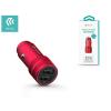 Devia Devia Dual USB szivargyújtós töltő adapter - 5V/2,4A - Devia Traveller Series Car Charger - Qualcomm Quick Charge 3.0 - red