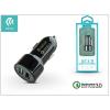 Devia Devia Dual USB szivargyújtós töltő adapter - 5V/3A/2,4A - Devia Smart Dual USB Quick Charge - Qualcomm Quick Charge 3.0 - black
