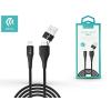 Devia Devia USB töltő- és adatkábel 1 m-es vezetékkel - Devia Storm 2in1 for Lightning/USB-A/Type-C USB 2.1A - black