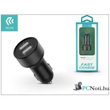 Devia ST301148 Smart 2.4A univerzális 2x USB-USB fekete autós töltő audió/videó kellék, kábel és adapter