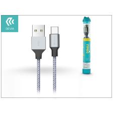 Devia USB töltő- és adatkábel 1 m-es vezetékkel - Devia Tube for Type-C USB 2.4A tok és táska