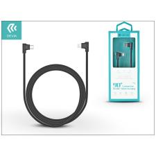 Devia USB Type-C - Lightning adat- és töltőkábel 1 m-es vezetékkel - Devia King 90 Double Angled Cable Type-C 2.4 to Lightning - black tok és táska