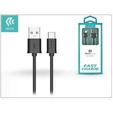 Devia USB - USB Type-C adat- és töltőkábel 1 m-es vezetékkel - Devia Smart Cable for Type-C 2.1 - black audió/videó kellék, kábel és adapter