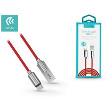 Devia USB - USB Type-C adat- és töltőkábel 1 m-es vezetékkel - Devia Storm Zinc Alloy USB Type-C 2.0 Cable - red mobiltelefon kellék