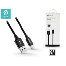 Devia USB - USB Type-C adat- és töltőkábel 2 m-es vezetékkel - Devia Pheez USB Type-C 2.0 Cable - black kábel és adapter