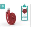 Devia USB - USB Type-C adat- és töltőkábel 80 cm-es vezetékkel - Devia Ring Y1 USB Type-C 2.4 Cable - red
