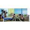 Diego Moderno Stripe szőnyeg 904 grey-green (200x290cm)
