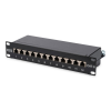 Digitus DN-91612S 10'' CAT6 12-portos FTP patch panel