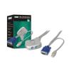 Digitus mini KVM switch  PS/2  2-portos  USB DC OC12U