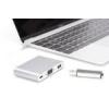 Digitus Multi Adapter 1xVGA 1080p FHD, 1xUSB Typee C, 1xUSB A na USB 3.0 Typee C