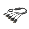 Digitus USB2.0/4 x RS232 (DB9M) konverter kábel  5 LGW