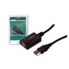 Digitus USB 2.0 jelerősítő kábel  5m