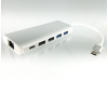 Dinic USB 3.1 HUB + 1GbE 4 port USB elosztó, Gigabit Ethernet