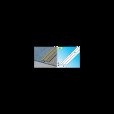 DINOCOOP ÁTMENET-PROFIL LAPOS 37X2,5 2M ALUMÍNIUM EZÜSTELOXÁLT CSAVAROZHATÓ építőanyag