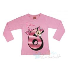 Disney Minnie szülinapos hosszú ujjú póló (méret: 122)