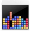 Divoom TimeBox Mini okos (Android,iOS), programozható bluetooth hangszóró 5W LED-es kijelzővel, fehér