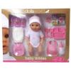 Dolls World Baby Tinkles baba, 38 cm, iszik-pisil, kiegészítőkkel, étellel és pelenkával