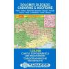 Dolomiti di Zoldo, Cadorine e Agordine térkép - 025 Tabacco