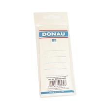 DONAU Cserecímke, iratrendezőhöz, kétoldalas, 48x153 mm, DONAU, fehér irattartó