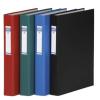 DONAU Gyűrűs könyv, 4 gyűrű, 40 mm, A4, PP/karton, , fekete
