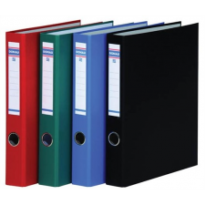 DONAU Gyűrűs könyv, 4 gyűrű, D alakú, 45 mm, A4, PP/karton, , piros gyűrűskönyv