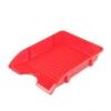 "DONAU Irattálca, műanyag, törhetetlen,  ""Solid"", piros"