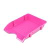 """DONAU Irattálca, műanyag, törhetetlen,  """"Solid"""", rózsaszín"""