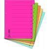 DONAU karton elválasztó lapok, mikroperforált, A4, zöld