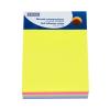 DONAU Öntapadó jegyzettömb, 101x76 mm, 7x40 lap, DONAU, vegyes szín