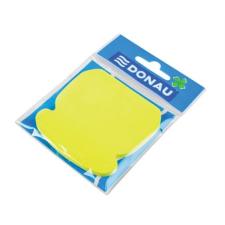 DONAU Öntapadó jegyzettömb, telefon alakú, 50 lap, DONAU, sárga jegyzettömb