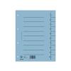 DONAU Regiszter, karton, A4, DONAU, kék (100 db)
