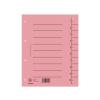 DONAU Regiszter, karton, A4, DONAU, rózsaszín (100 db)