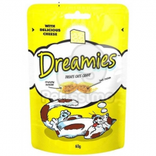 Dreamies jutalomfalat macskák számára sajttal 180 g jutalomfalat macskáknak