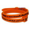 DSE Il MEZZOMETRO -  I LOVE YOU - SILVER - szilikon karkötő, narancssárga színben
